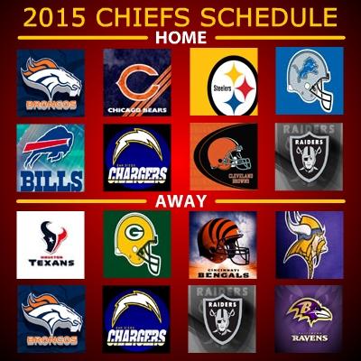 Chiefs Schedule 2017 2016 2015 2014 2013 2012 2011 2010 Kansas City Chiefs Schedule